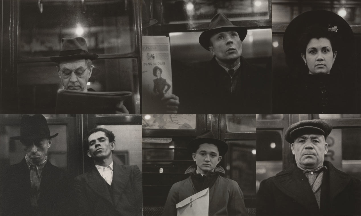 Walker Evans - Subway portraits 1938-1941