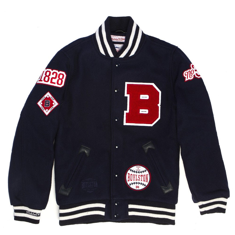 Mitchell & Ness x Boylston Trading Co. Vintage Varsity Jacket