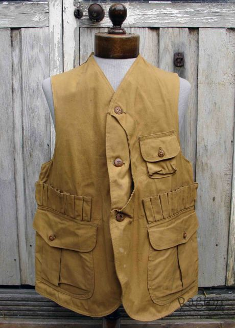 1930s – 1940s Red Head Hunting Vest